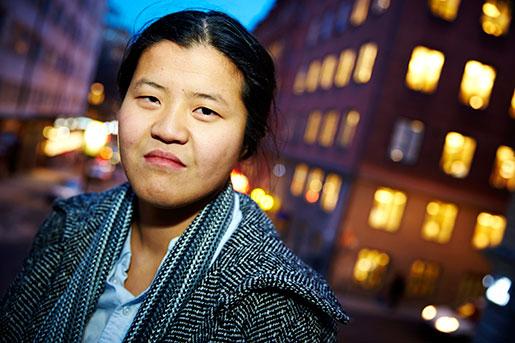Hanna Lindqvist, en av många unga som ser egen lägenhet som en ouppnåelig dröm. Foto: Fredrik Persson
