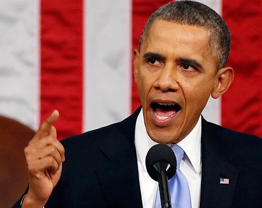 Det var en självsäker president Barack Obama som talade till nationen. Foto: Larry Downing