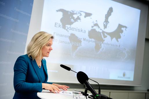 Finansminister Magdalena Andersson spår magra år. Foto: Jessica Gow
