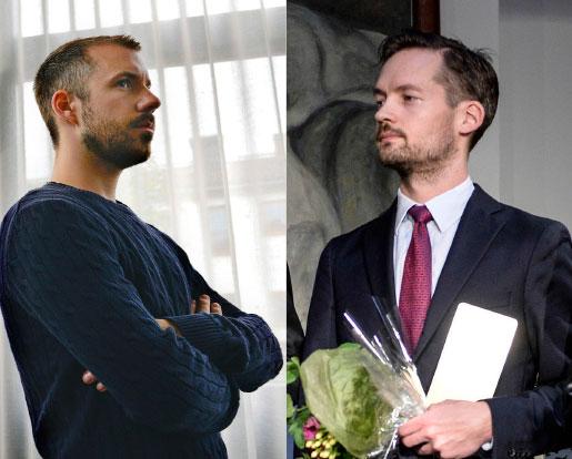 Daniel Poohl, Expo, och David Baas, Expressen. Foto: Anders Wiklund, Bertil Ericson