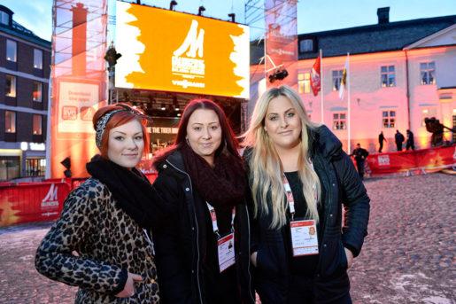 Felicia Adeström, Malin Pettersson och Elin Stenberg stylar världseliten under skid-vm. Foto: Anders Wiklund