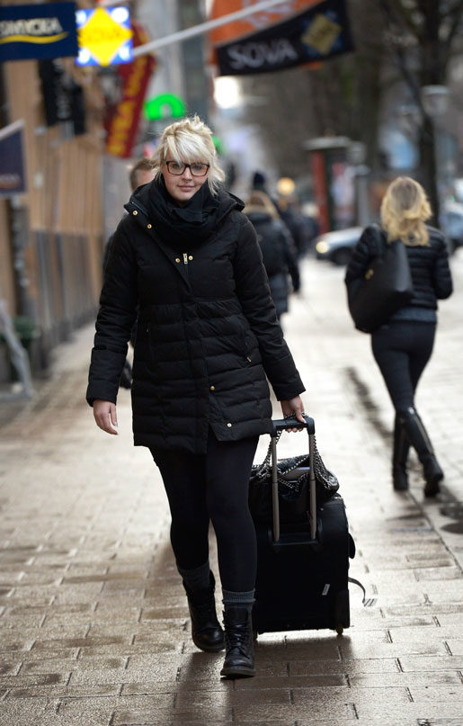 Jessica Davenius på väg från möte med förbundsstyrelsen. Foto: Janerik Henriksson