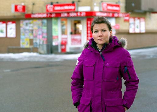 Mari Seger öppnade närbutik – men blev rånad två gånger.Foto: Pernilla Wahlman
