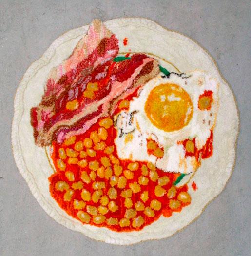 Frukost av Maja Michaelsdotter Eriksson (Handtuftad matta)
