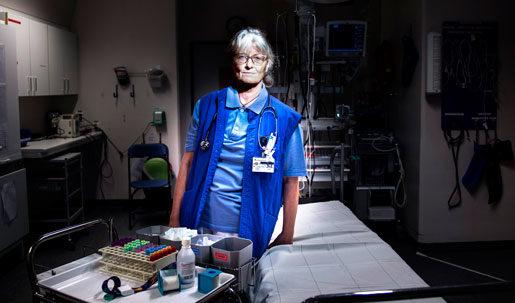 Många som kommer till akuten är missbrukare, och det skapar ofta  aggressiva situationer, säger Jessica Fryckstedt.Foto: Pontus Lundahl