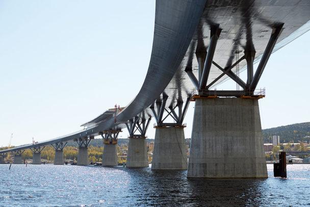 Sundsvallsbron. Foto: Trafikverket