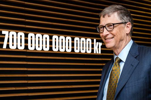 Världens rikaste: Bill Gates äger 700 miljarder kronor. Foot: Geert Vanden Wijngaert