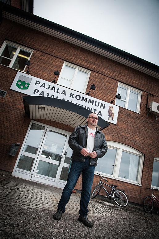 –Jag får kalla kårar när de pratar om utländska köpare, säger Pajalas kommunalråd Harry Rantakyrö, tidigare gruvfackbas i Kiruna. Foto: Kim Kangas