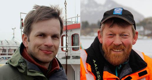 Hela fiskeflottan ingår i miljöarbetet. Tor Bjørklund Larsen är miljörådgivare för fiskarfacket. I dag är han med Børge Iversen ut.