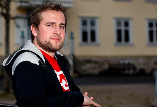 Emil Forsberg leder kursen om global rättvisa. Foto: Adam Ihse