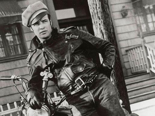 Stilikon från 1950-talet: Marlon Brando i sin bikerjacka.