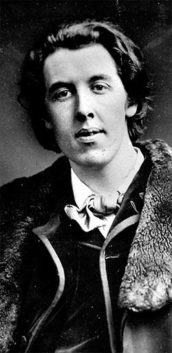 Oscar Wilde,  omkring 1882. Foto: Napoleon Sarony