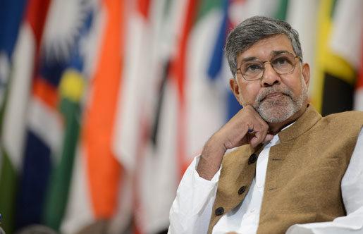 Många barn säljs för priser lägre än en hamburgare, sade fredspristagaren Kailash Satyarthi på ILO-kongressen.Foto: Martial Trezzini