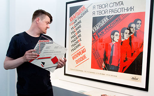 Andréas Hagström har sammanställt föremål med Kraftwerk-formspråk. Foto: Mikael Lammgård