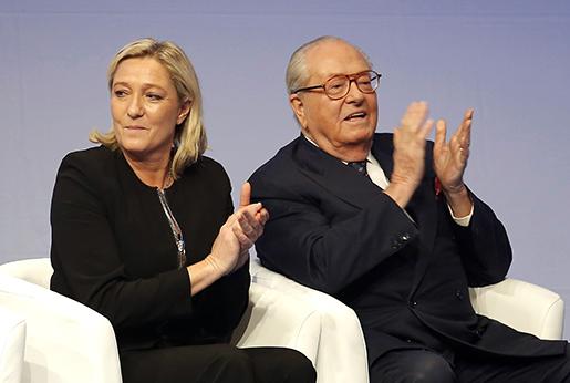 Frankrike: Dotter Marine Le Pen försöker tvätta bort fadern Jean-Marie Le Pens rasism från Nationella fronten.  Foto: Laurent Cipriani