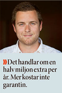 Daniel Johansson är pappa till sommarjobbsgarantin.