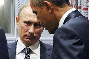 Vladimir Putin och Barack Obama möttes i New York i måndags. Foto: RIA-Novosti/AP/TT.
