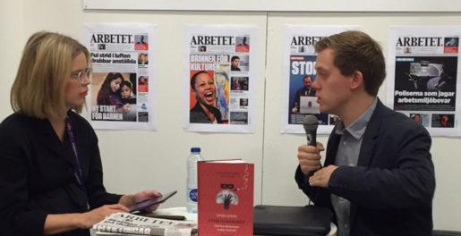 Arbetets kulturredaktör intervjuade guardiankrönikören Owen Jones. Foto: Liv Beckström