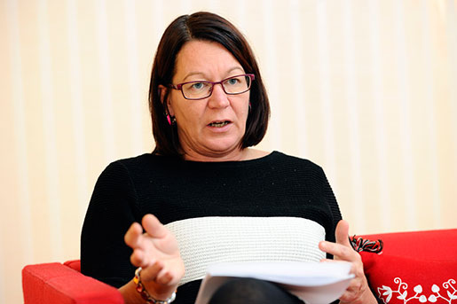Lenita Granlund, Kommunal avtalssekreterare. Foto: Henrik Montgomery