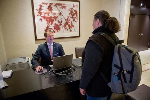 Steve Watson, chefsconcierge på Sheraton.Foto: Maja Suslin
