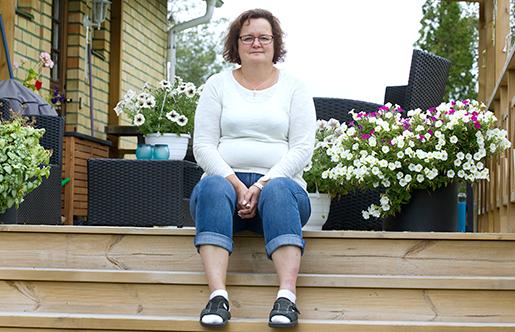 Annelie Pesonen i Hedesunda får råd med lite mer. Foto: Pernilla Wahlman