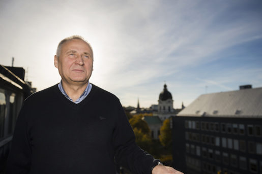 STOCKHOLM 20151026 Den belarusiske oppositionspolitikern Mikola Statkevich ‰r pbesˆk i Sverige. Foto: Vilhelm Stokstad / TT / Kod 11370