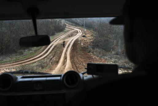 ELHOVO 2014-01-31  274 kilometer ‰r Bulgariens gr‰ns mot Turkiet. Sedan november fˆrra Âret har antalet bulgariska gr‰nsvakter tredubblats. Foto: Jacob Zocherman / Kontinent / TT / kod 10510