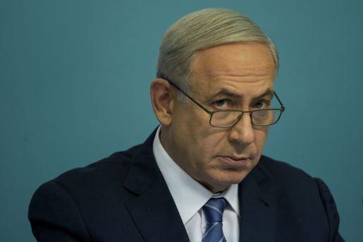 Israeli Prime Minister Benjamin Netanyahu  speaks during a press conference at his office in Jerusalem, Israel, Thursday, Oct. 8, 2015. Netanyahu sought to calm Israelis Thursday as a wave of Palestinian stabbing attacks spread deeper into Israel and clashes erupted across the West Bank, vowing to combat the growing violence without alienating international allies. (AP Photo/Tsafrir Abayov)