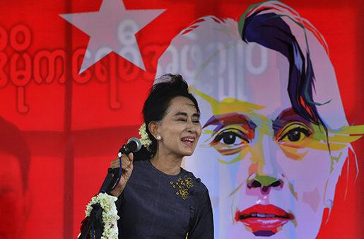 Burmas oppositionsledare Aung San Suu Kyi. Foto: AP/TT