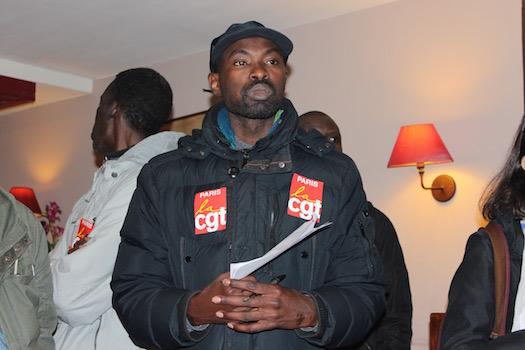 Ibrahima är en av de som organiserar ockupationen. Foto: Erik Larsson
