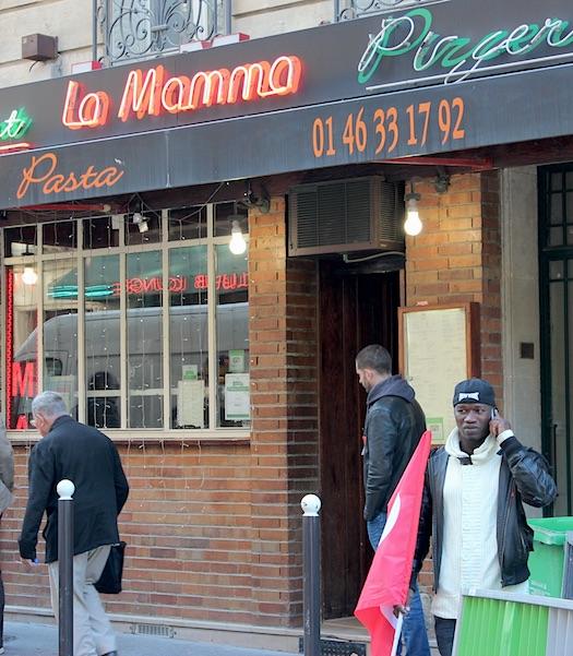 """Restaurangen """"La Mamma"""". Foto: Erik Larsson"""