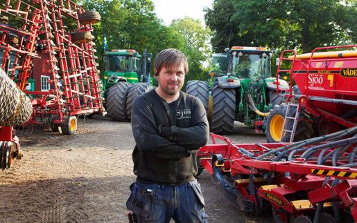Markus Robért, lantarbetare. Foto: Carl von Scheele