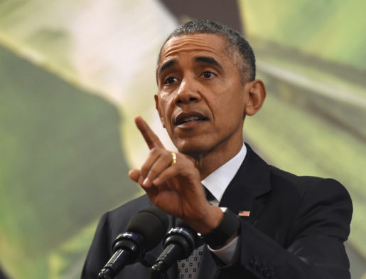 In this Nov. 18, 2015, photo, President Barack Obama speaks during a news conference in Manila, Philippines. If truth is the first casualty of war, it can also take a beating in a time of terrorism. A week of raging debate over Syrian refugees and Islamic State violence has scattered misinformation everywhere. Obamaís mocking of Republicans worried about terrorists slipping into the U.S. with authentic refugees masks concerns that were expressed by his own administration about that very potential before the Paris attacks. (AP Photo/Susan Walsh)