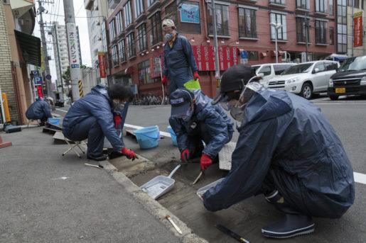 Saneringsarbetet fortsätter i staden Fukushima. Foto: Christina Sjögran