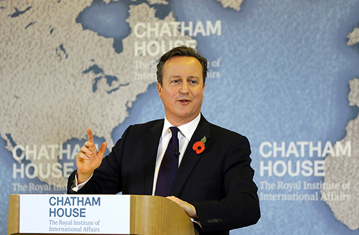David Cameron. Foto: AP Photo/Kirsty Wigglesworth