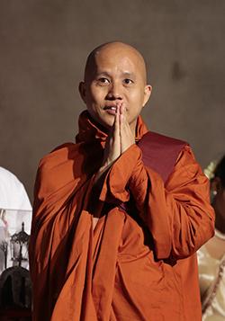 Myanmar's hard-line Buddhist monk Ashin Wirathu is known for his anti-Muslim stance. Photo: AP /Eranga Jayawardena