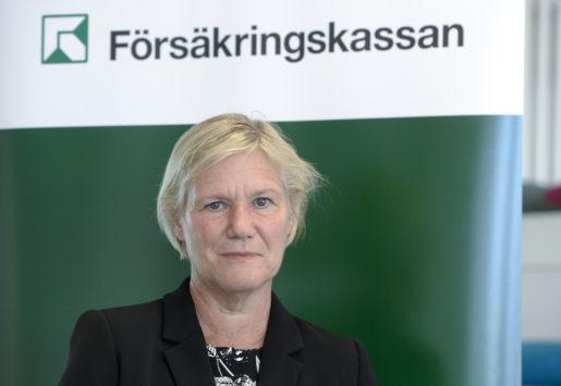 STOCKHOLM 20150827 Socialfˆrs‰kringsminister Annika Strandh‰ll presenterar den nya generaldrektˆren fˆr Fˆrs‰kringskassan, Ann-Marie Begler. Foto Bertil Ericson / TT / kod 10000