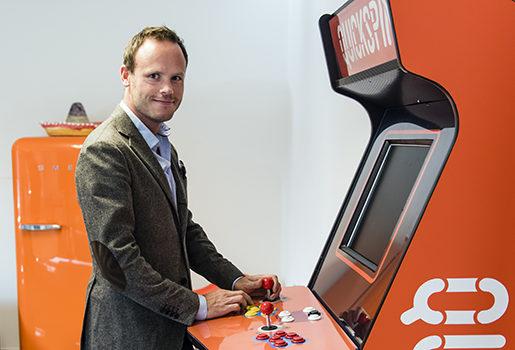 Daniel Lindberg är CEO på Quickspin, som startades 2011 och utvecklar mjukvara för kasinospel. Kollektivavtal är oflexibelt, anser han. Foto: Martin Fältström