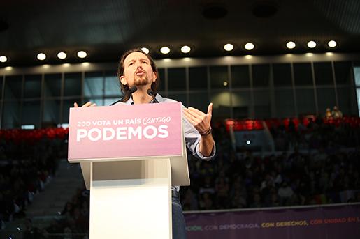 Podemos ledare Pablo Iglesias. Foto: Estrella de la Reguera