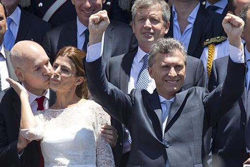Argentinas nya president Mauricio Macri, efter att ha blivit insvuren. Foto: AP/Maria Natacha Pisarenko