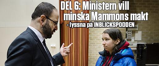 STOCKHOLM 20150304 Jaqueline Kisel pratar med bostadsminister Mehmet Kaplan (Mp) som talar pKista folkhˆgskola och svarar pelevernas frÂgor om bostadsmarknaden. Foto: Vilhelm Stokstad / TT / Kod 11370
