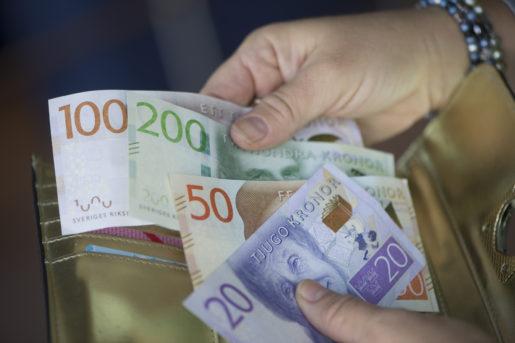 STOCKHOLM 20151002 PlÂnbok med de nya svenska sedlarna. Foto: Fredrik Sandberg / TT / Kod 10080