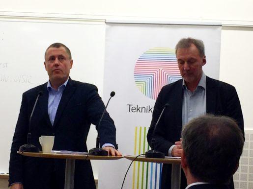 Anders Weihe, förhandlingschef och Åkes Svensson vd, Teknikföretagen. Foto: Kim Nilsson