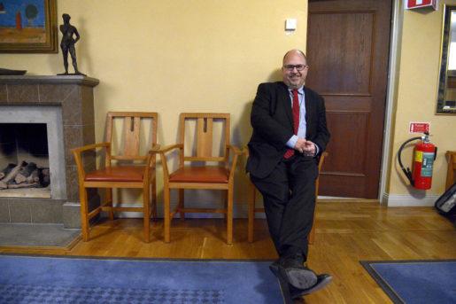 """""""Jag vill fortsätta att ligga lite före, vara lite mer progressiv, lite mer radikal."""" LO:s ordförande Karl-Petter Thorwaldsson hoppas bli omvald vid kongressen nästa år.Foto: Janerik Henriksson/TT"""