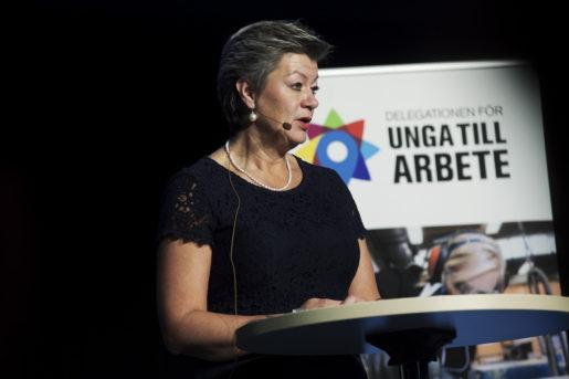 STOCKHOLM: 20151106 Arbetsmarknadsminister Ylva Johansson fˆr tidningen Arbetet Foto: Stina Gullander/ TT /KOD 11310