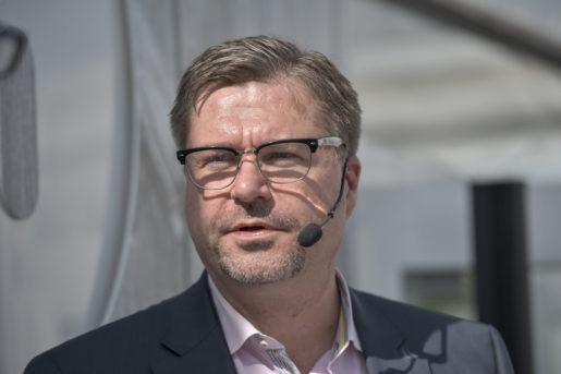 VISBY 2014-06-30 Arbetsfˆrmedlingens Mikael Sjˆberg vid TT-t‰ltet i Visby pmÂndagen. Foto: Henrik Montgomery / TT / kod: 10060