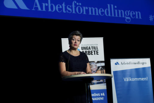 Arbetsmarknadsminister Ylva Johansson (S). Foto: Stina Gullander/TT