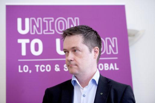 STOCKHOLM 20150507 : LO,TCO och Saco bildar bistÂndsorganisationen Union to Union. Bilden: Per-Olof Sjˆˆ, ordfˆrande Union to Union. Foto: Maja Suslin / TT / Kod 10300