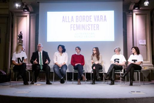 """Karl-Petter Thorwaldsson, svensk fackfˆreningsordfˆrande fˆr LO, pNorra Real, Stockholm, diskuterar feminism.""""Alla borde vara feminister"""" Foto: Foto: Margareta Bloom Sandeb‰ck/TT/ Kod 200"""