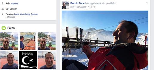 Burcin Tunc äger fartyget Whiskey Trio. På hans Facebook-sida postades ovanstående bild den 6 januari. Foto: Skärmdumo